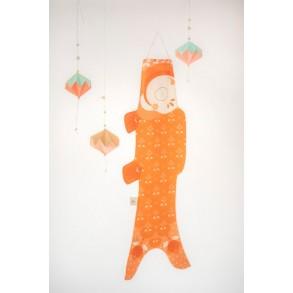 madame mo koinobori mandarine carpe koi  objet de décoration japon