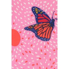 Zoom sur koinobori Madame Mo, modèle papillon, gift enfant