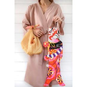 Carpe Koi Kabuki Samouraï Madame Mo, porte-bonheur japonais