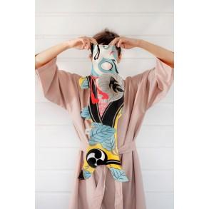 Carpe Koi Kabuki Soldat Madame Mo, objet de décoration inspiration japonaise