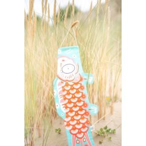 Koinobori Bleu Lumière Madame Mo, idée de cadeau poétique, éthique, écologique, d'inspiration japonaise