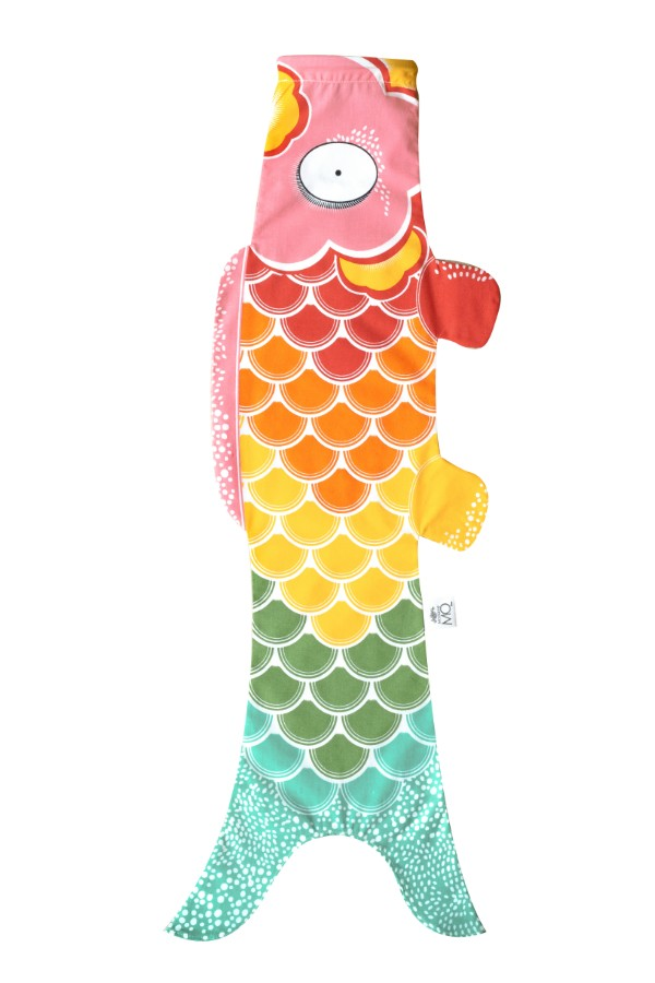 Koinobori Madame Mo Rainbow, great gift inspired by Japan for a unique decoration