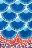 Zoom on Madame Mo windsock Ocean Blue, made in organic textile